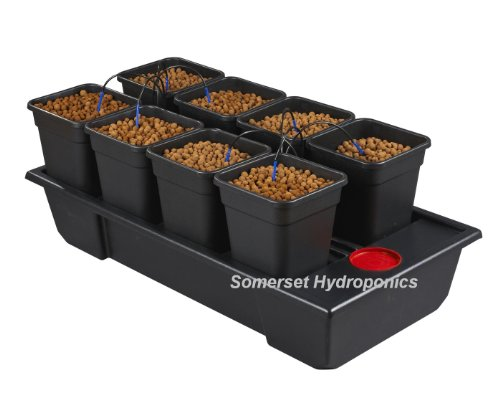 Pot Dripper-system (Atami Wilma Hydrokultur Tropfsystem, 8Töpfe)