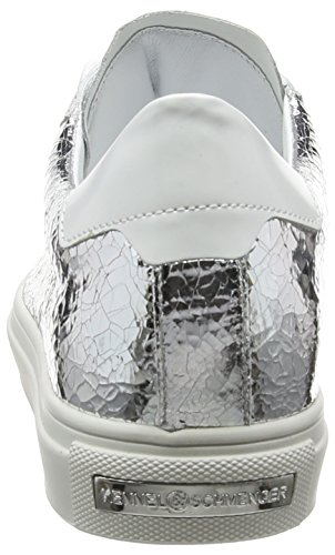 Kennel Und Schmenger Schuhmanufaktur Scoop, Baskets Basses femme Multicolore - Mehrfarbig (Silver/bianco S.weiss 604)