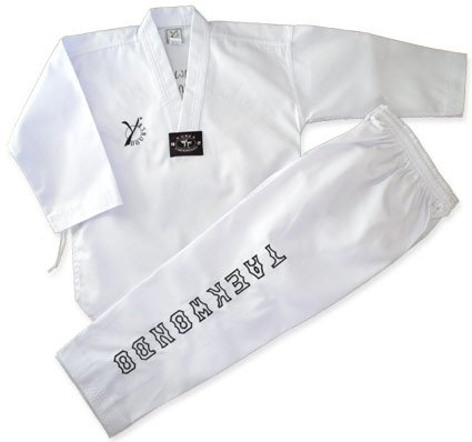 DOUBLE Y ELEGANCE - Dobok de taekwondo blanco blanco Talla:180
