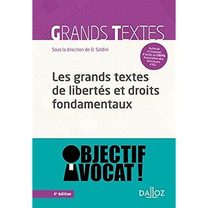 Les grands textes de libertés et droits fondamentaux - 4e éd.
