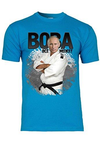 METRA -  T-shirt - Maniche corte  - Uomo Azzurro Large