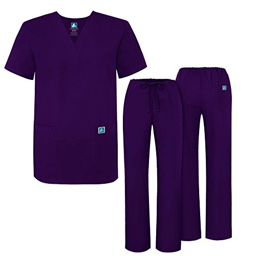b6cec862002 ADAR UNIFORMS Unisex Scrub Set – Medical Uniform with Top and Pants, Color:  PRP