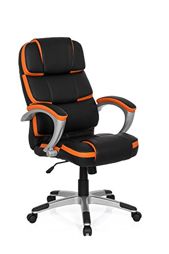 MyBuero silla gaming GAMING PRO BY 100 piel sintética negro / naranja silla escritorio 722120