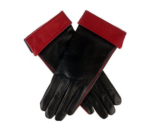 Romana de Lundorf, gants mi-longs en cuir pour femme Noir / Rogue