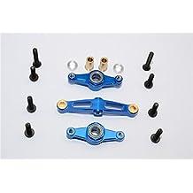Tamiya TT-02 Upgrade Parts Aluminium Steering Assembly With Bearing - 1 Set Blue