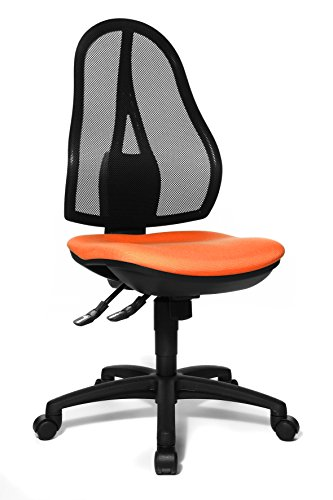 Topstar OP200G04 Open Point SY, Bürostuhl, Schreibtischstuhl, ergonomisch, Bezug orange