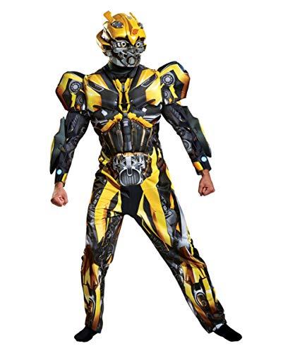 Transformers Bumblebee Deluxe Muskelkostüm für Herren M/L (Transformer-kostüm Für Erwachsene)