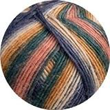 Lana Grossa Meilenweit 6-fach 150 Magico II 9358 Beige/Ocker/Petrol/Jeans/Blassorange 150g