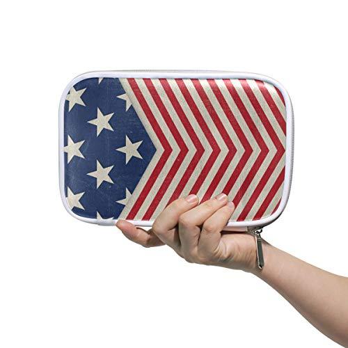 hen, Patriotische Designs, große Kapazität, Stifttasche, Make-up-Tasche, langlebig, ideal als Geschenk für Studenten ()