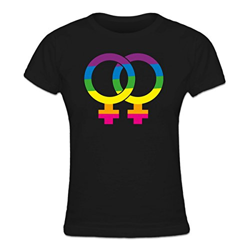 Lesbian Love Rainbow Frauen T-Shirt by Shirtcity (Lesben T-shirt Designs)