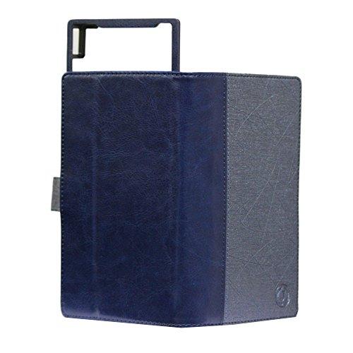J Cover Saturn Series Leather Pouch Flip Case For Panasonic T30 Dark Blue Dark Blue