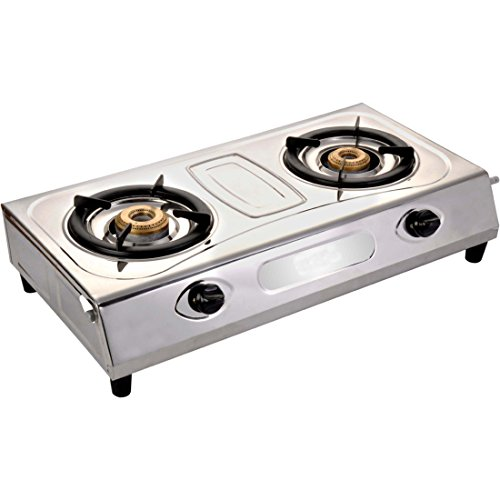 Blue Eagle Silver Stainless Steel Automatic ignition 2 Burner Gas Stoves. (Two Burner).