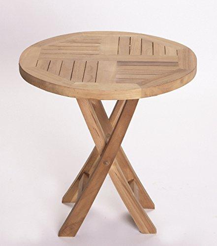 Riva Beistelltisch Klapptisch braun Echtholz rund Holztisch Balkontisch