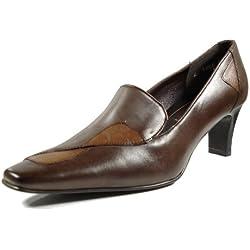 Mascia 18665-123 Damen Schuhe Premium Qualität Pumps Braun (braun) [EU 38.0]