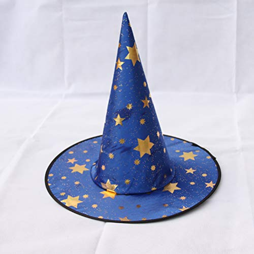 ay Kostüm Girl Boy Wizard Hat,Blue ()