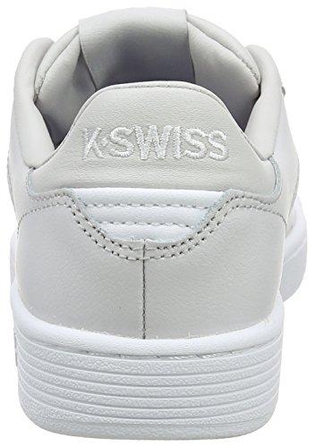 K-Swiss Clean Court Cmf, Scarpe Basse da Ginnastica Donna Nero (Wind Chime/white 021)