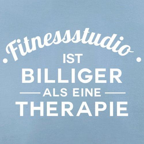Fitnessstudio ist billiger als eine Therapie - Herren T-Shirt - 13 Farben Himmelblau