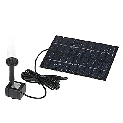 Decdeal Solar Powered Water Pump Solar Pond Pump Upgraded Submersible Fountain Pump for Bird Bath 170L/H 5