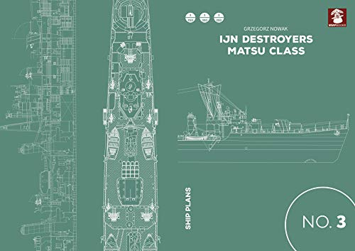 Ijn Destroyers Matsu Class (Ship Plans) por Grzegorz Nowak