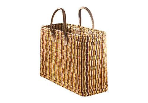 Kobolo Die orange Seegrastasche mit Lederhenkeln ideale Einkaufsbegleiter für Jede Situation