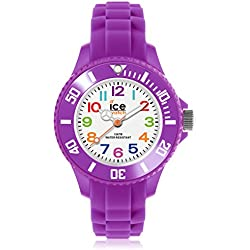 Ice-Mini Children's Size Ice-Watch White Dial Colourful Numbers Purple MN.PE.M.S