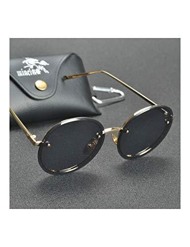 HNPYY Sonnenbrillen Polarized Vintage Women Sunglasses Flash Mirrored Lens Retro Round Sunglass,C