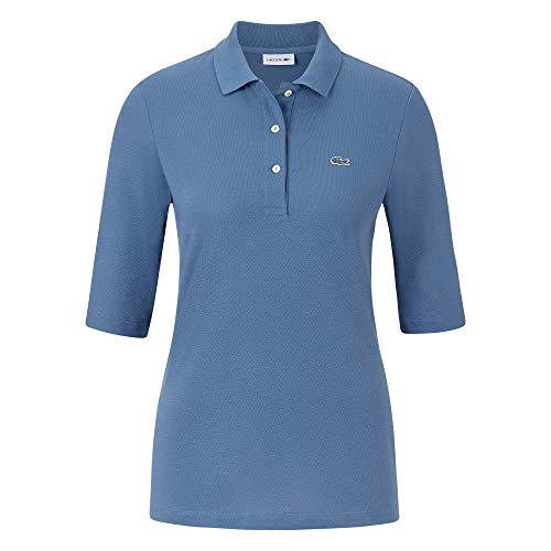 Lacoste Damen Polo Shirt Kurzarm PF5381,Frauen Polo-Hemd,3 Knopf,Regular Fit,King(PQ8),38 EU