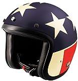 AIRBORN Motorradhelm Jethelm Steve ab 44, Dekor Usa/Brillant, Größe XL