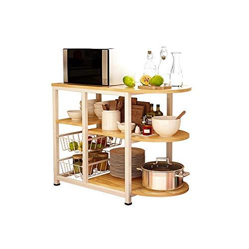 WLD Rack-Küche Mikrowellenherd 3 Schicht + 3 Schicht-Esstisch Küche Baker-Rack Praktische Aufbewahrungs-Rack Für Gewürzregal Organisation Workstation Küche Storage Rack hgffsdgfdfdsfsd / 80x3