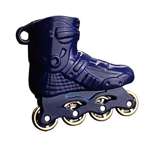 DERKOLY Schlüsselanhänger Jewelry Mini Rollschuhe Charm Anhänger Auto Schlüsselanhänger Ring Halter Ornament Geschenk, Zinklegierung, Blau, Einheitsgröße