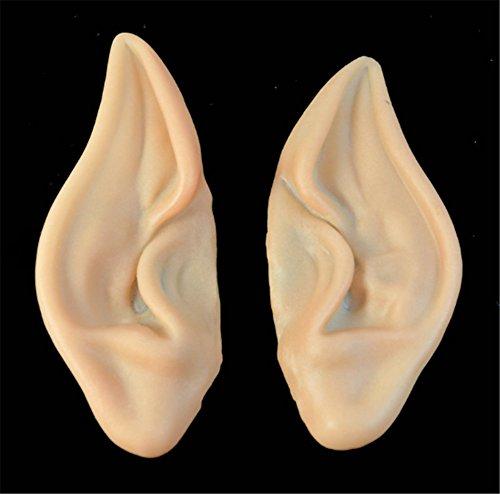 Interesting 1 Paar Fairy Pixie Elf Ohren Zubehör Halloween Cosplay Partei Maske weichen spitzen prothetischen Ohren