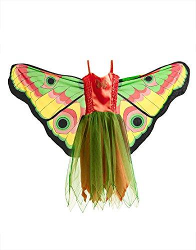 Dreamy Dress-Ups 50664Dress, Fly-Away-Kleidchen, Yellow Butterfly, Schmetterling gelb, XS 3-4 - Dress Up Kostüm Gelb