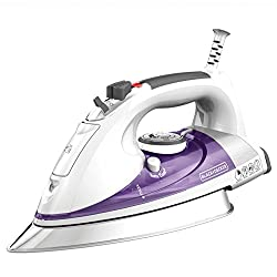 BLACK+DECKER IR1350S Professional Steam Iron, White/Purple by BLACK+DECKER