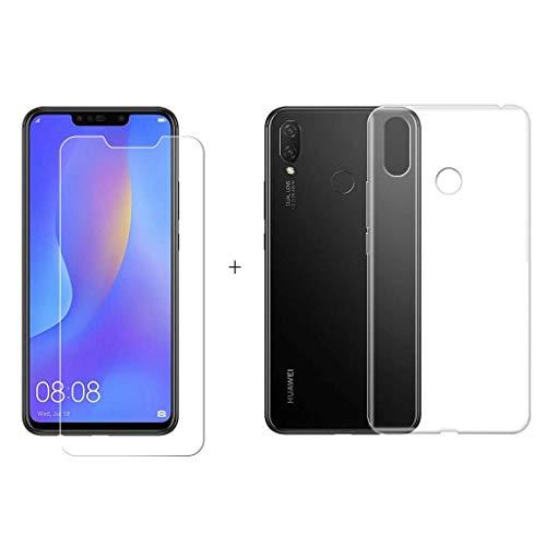 2a2b10d9df3 LJSM Huawei Nova 3i / Huawei P Smart+ (P Smart Plus) Funda Transparente +