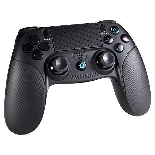 Wetoph Controlador inalámbrico para PS4 GD25 Bluetooth inalámbrico Dualshock Gamepad Compatible con PS3 / PS4 / PC-Negro (GD25-A, Black 1)