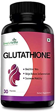 Simply Herbal Glutathione – With Vitamin C, Vitamin E & Grapeseed Extract – 1000 mg - 30 Capsules