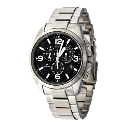Citizen - AS4040-55E - Montre Homme - Quartz chronographe - Bracelet en acier