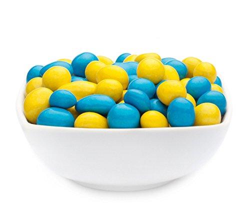 CrackersCompany Yellow & Blue Peanuts (1 x 950g in Membrandose groß) CrackersCompany Erdnüsse in Schokohülle in Gelb und Blau - Partysnack für Themenpartys - leckere Nascherei für zwischendurch - süße Kaffeepause (Mandel-leuchten)