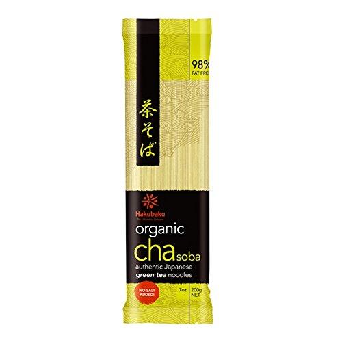 Organic Hakubaku - Cha Soba Noodles Net. 200g, Bio Weizennudel mit Matcha (Halong) (Soba-nudel-rezepte)