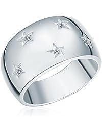 Secret Diamonds - Bague - Argent sterling 925 - Bijoux pour femmes - En plusieurs tailles, bague diamant, bijoux en argent, bijoux en diamant - 60250057