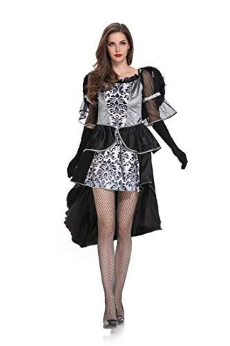 Teufel Legende Kostüm - Sijux Cosplay Kostüm der Erwachsenen Frauen Halloween schwarzes Engels-Teufel-Kleid eingestellt, Legenden des Bösen,Black,M
