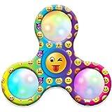 Omiky® Moji LED Licht Fidget Hand Tri-Spinner Stress Relief Manipulative Spiel Spielzeug