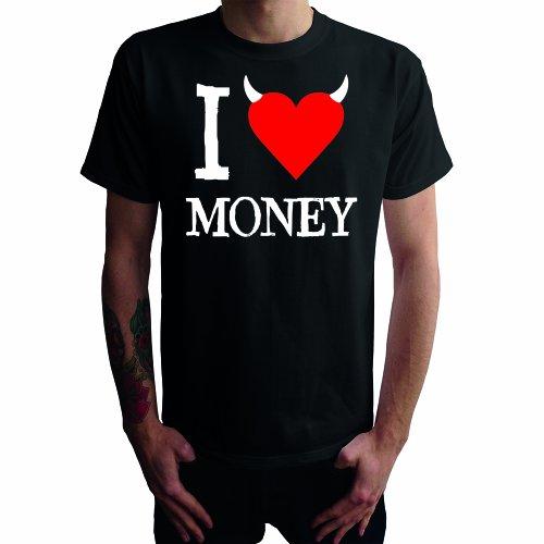 I don't love Money Herren T-Shirt Schwarz