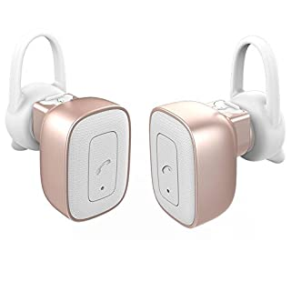 allimity True Wireless Headphones Bluetooth Stereo Earbuds Noise Cancelling Sweatproof Earphones with Mic for iPhone 7 Plus iPhone 6s iPhone 6 iPhone 5s Samsang
