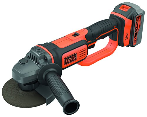 BLACK+DECKER BCG720M1-QW Smerigliatrice angolare 18V-4.0AH - 125/115mm in softbag