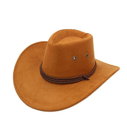 (Sommer Outdoor-Hüte/Cowboy-Hut/ Männliche und weibliche Jazzhut/ Reitkappe/Visier/Strohhut/Großer Strand Hüte-D One Size)
