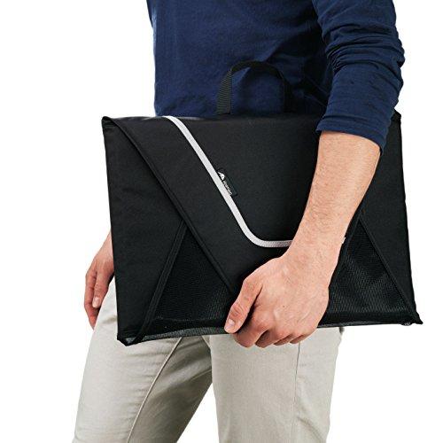 ALPAMAYO® Hemdentasche für knitterfreie und faltenfreie Hemden auf Reisen für den Transport von Hemden im Koffer, Handgepäck oder Reisetasche, schwarz -