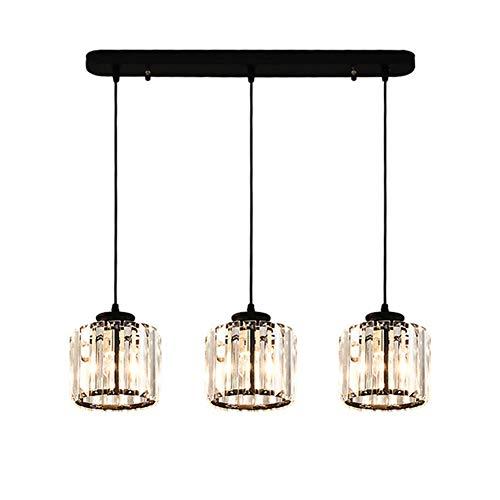 Amerikanischer Kronleuchter 3 Köpfe Kristalllampen Kreativer Kronleuchter für Schlafzimmer Studie in Einem Café [Energieklasse A]