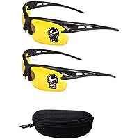 2 pares de gafas de sol unisex antideslumbramiento sin polarización con estilo día y gafas de