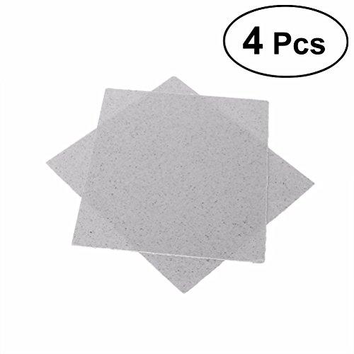 Preisvergleich Produktbild OUNONA 4 Stücke Glimmerscheibe für Mikrowellen Reparatur Teil Blätter 13x13 cm